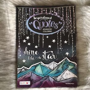 Inspirational Quote Adult Coloring Book NWT